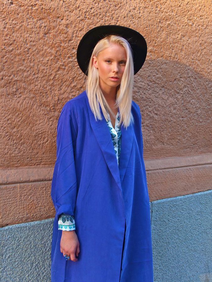 blue: Hats, Blue Blondes, Inspiration Femme, Blue Fashion, Colors, Blue Blazers, Boys George, Faces Hunters, Hair