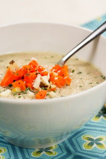 Creamy Cauliflower, Carrot and Brazil Nut Soup - The Healthy Foodie