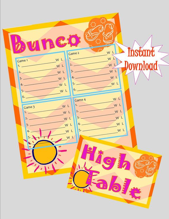 17 best Bunco forms images on Pinterest Bunco ideas, Bunco party - sample phase 10 score sheet template