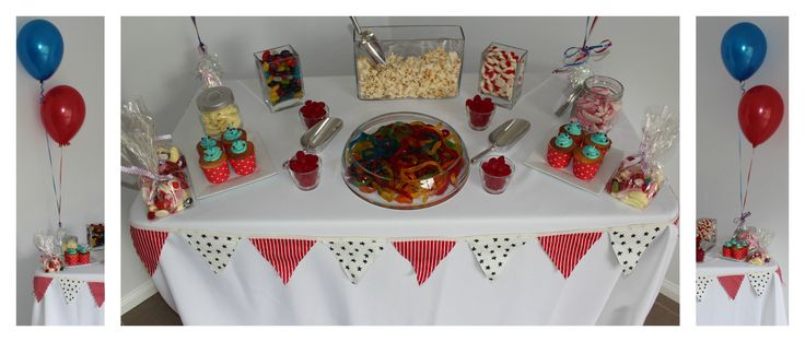 Stars and Stripes themed lolly buffet www.coasttocountryweddingsandevents.com.au