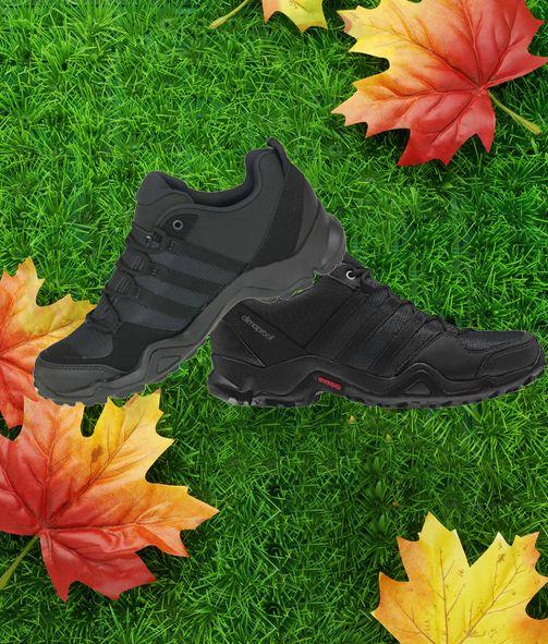 Sie haben einen niedrigen, Mesh, synthetische Stiefel, leichte #Sohle mit EVA Dämpfung und geben den ganzen Tag über Sucker Sohle #TRAXION, die den besten Grip und Agilität bei schnellen Bewegungen und CLIMAPROOF System bietet - atmungsaktive und wasserdichte Membran.  #wanderschuh #sportschuhe #herrenschuhe #herbst #schuhe #herrenmode #adidas #herrensportschuhe