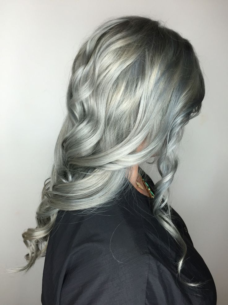 Silver gray blue bleach out