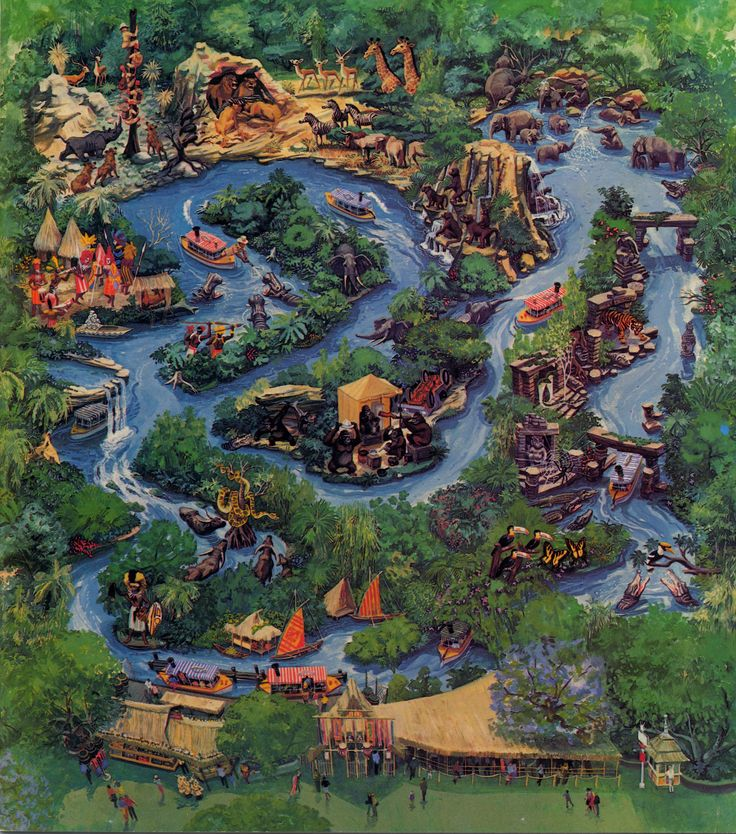 Jungle Cruise Map Jungle Cruise Ride Magic