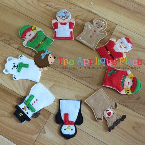 Christmas FINGER Puppet Set