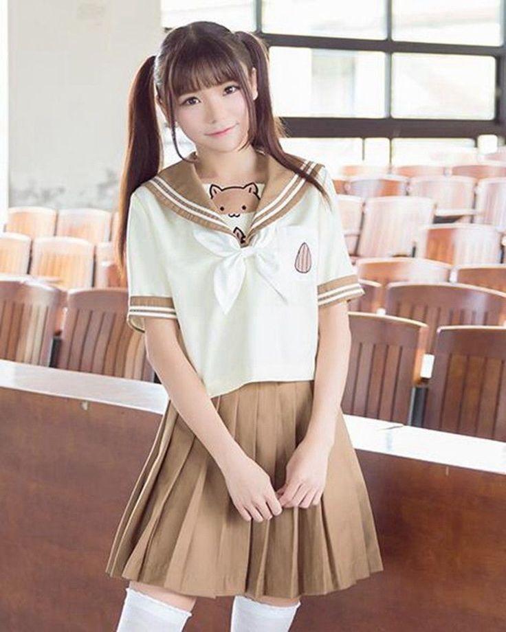 Japanese Hamster School JK Uniform Girl Lolita Outfit Sailor Shirt Pleated Skirt   eBay