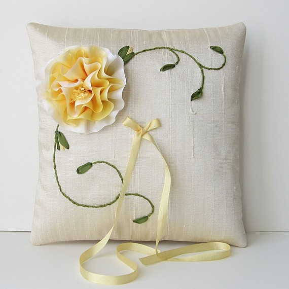 Reserved for n silk ribbon embroidery and the pillow