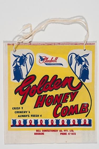 """A """"Bluebell Golden Honeycomb"""" #Ekka  showbag  c1940s"""