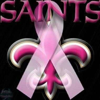 Breast Cancer Awareness New Orleans Saints!