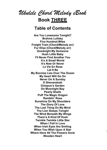 24 best shacc photo archive images on pinterest photo archive ukulele chord melody ebook three full table of contents purchase through the paypal donate button fandeluxe Image collections