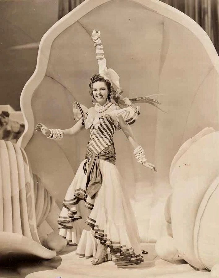 """Judy Garland in the """"Minnie from Trinidad"""" number from Ziegfeld Girl (1941)"""
