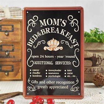 Mom's Bed & Breakfast - Emaljeskilt fra NiceWall.dk