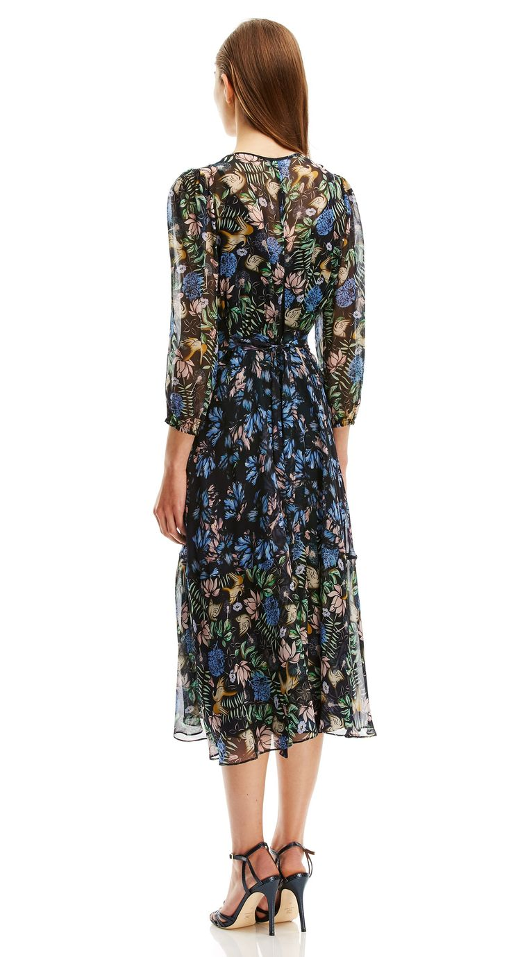BIRD AND FLORAL PRINT DRESS - Dresses | SCANLAN THEODORE