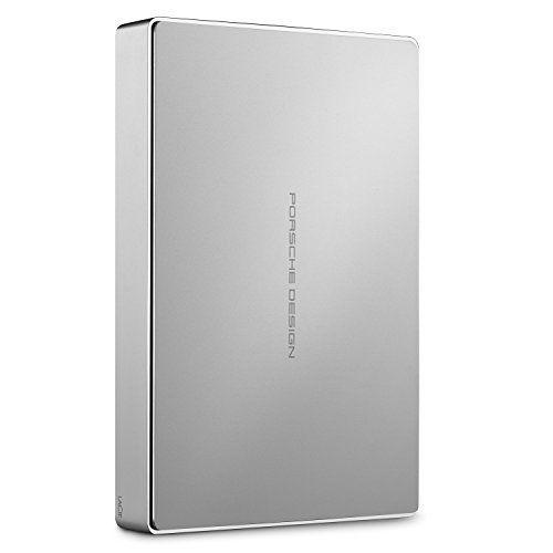 LaCie Porsche Design Disque dur externe USB-C + USB 3.0pour PC Mac 6,3cm: Plus de deux fois la capacité de stockage d'exécution inégalée…