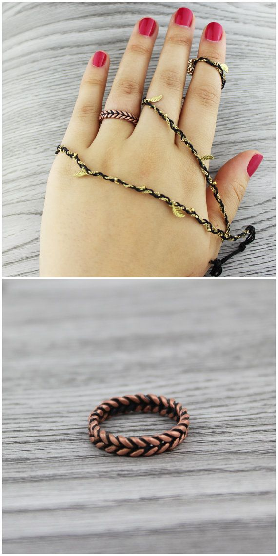 Twisted Ring. Braided Ring. Woodland ring. by TempestSociety