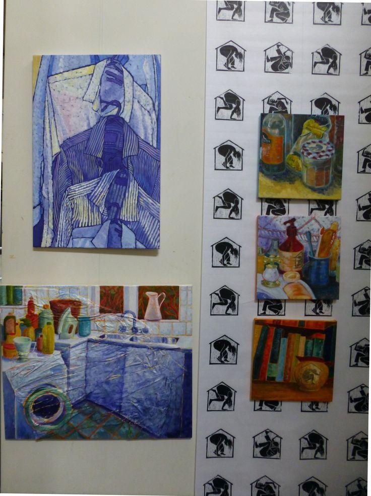 "Joanna Mansueto ""trapped"" lino print wall paper 2014"