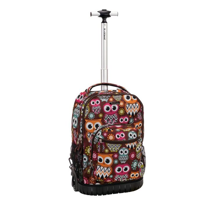 19 in. Multi-Color Blue Rolling Backpack, Multi-Colored