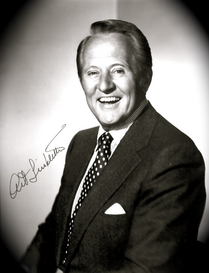 Art Linkletter 1912 - 2010, US TV pioneer & humourist. Canadian. Left on the steps of a church when only weeks old, he was raised by the pastor Linkletter and his wife and never knew his biological parents. Obtained a degree in teaching but turned to radio because the pay was better, then to TV where he became an early fixture and at one time had 5 shows running during a single season. Happy person and positive thinker, married 75 years to his wife when he died.