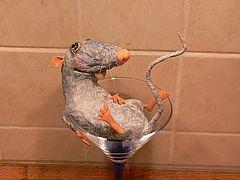 крысеныш из ватного папье-маше