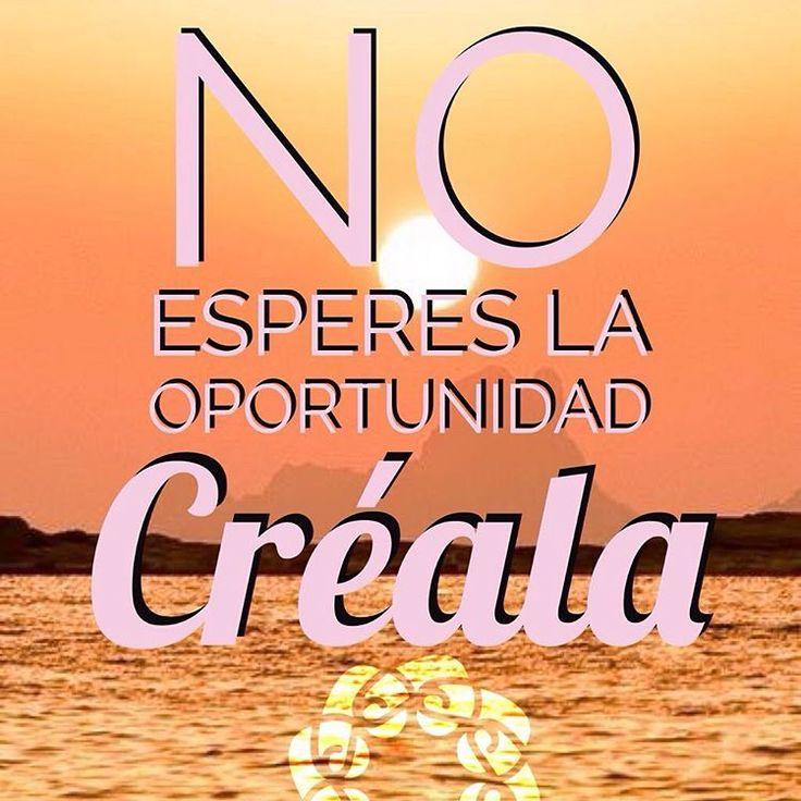No esperes la Oportunidad, hoy decídete...sal a Crearla, disfruta del camino, Bendecido Día! No olvides agradecer 🙏🏻. • ❁GO! NAMASTE ॐ #yopiensoenpositivo #piensoenpositivo #pienso_en_positivo  #citas #hooponopono #motivacion #emprendedores #emprende #vive #yoga #felicidad #publicidad #namaste #love #smile #happy #go . 🛒Nuestros productos en: @by.piensoenpositivo . 🔝Compártela Etiqueta a Otros🔝 PIENSA EN POSITIVO VIVE EN POSITIVO