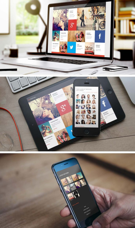 #GavickPro - (M) Social - #Social #Joomla #Template - 39.00 €