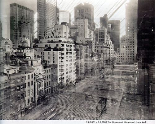 Michael Wesely's beautiful 34 month exposures. The pinhole camera was not touched or tampered with at all during the exposure.