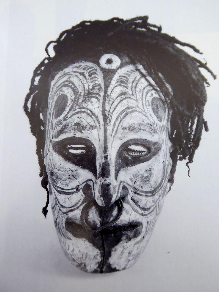Over modeled Skull Sepik River P.N.G.