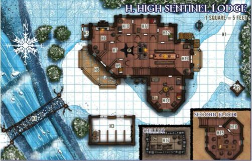 High Sentinel Lodge Map Reign Of Winter Pathfinder