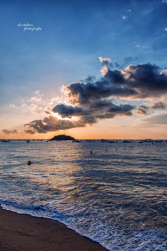 Beach in Tossa de Mar - #Spain, #TossaDeMar, #Spain, #AlexBobicaPhotography