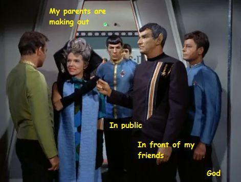 Amanda & Sarek & Spock
