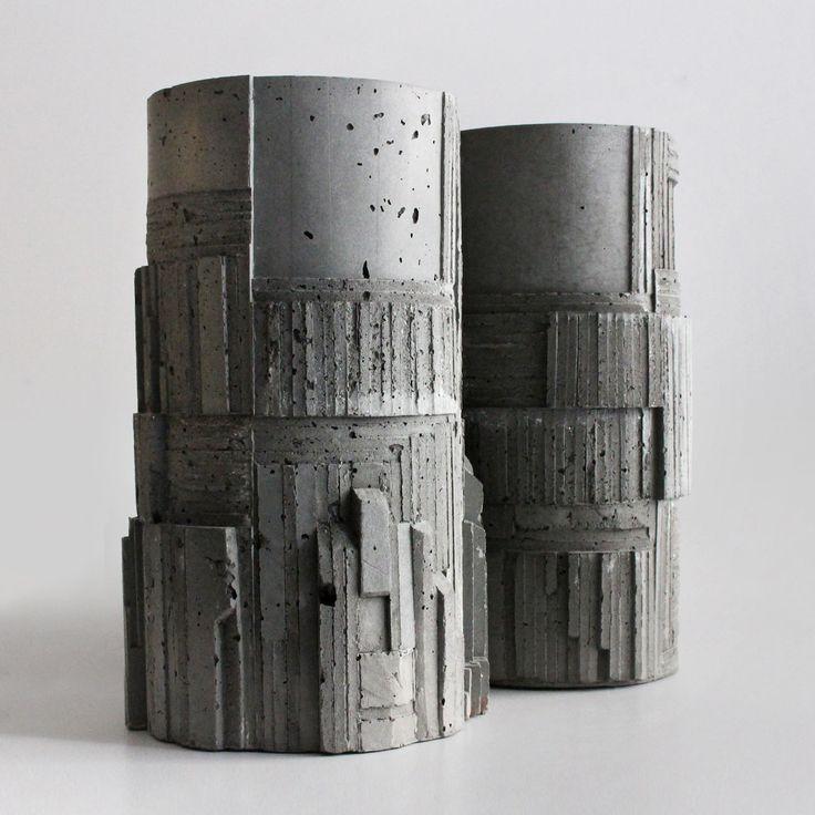 Larose Paris X David Umemoto Brutalist Concrete Vases - Design Milk