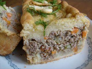 Polpettone romeno in crosta - Drob de carne in crusta de aluat - Romanian similar haggis recipe in pie crust, my way