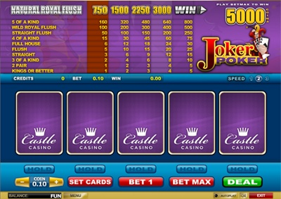 Most casino games have a house edge that can leave your pockets feeling a little bit emptier than usual, not video poker! With enough skill you can beat the house and feel flush, especially with our famous video poker game Joker Poker. This is available as the standard offering, with 4 hands and with 25 hands – so whatever you fancy is available to begin playing right now!