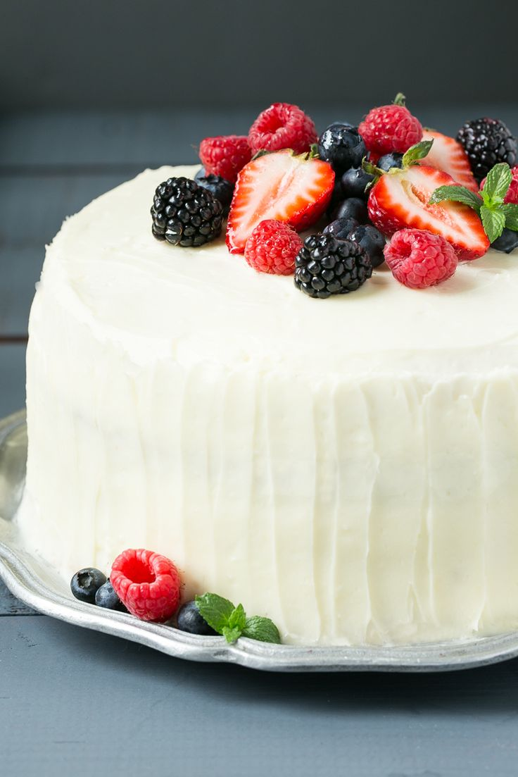 This recipe forberry chantilly cakeis a light and tender yellow cake with plenty of fresh berries and afluffy melt-in-your-mouthfrosting.