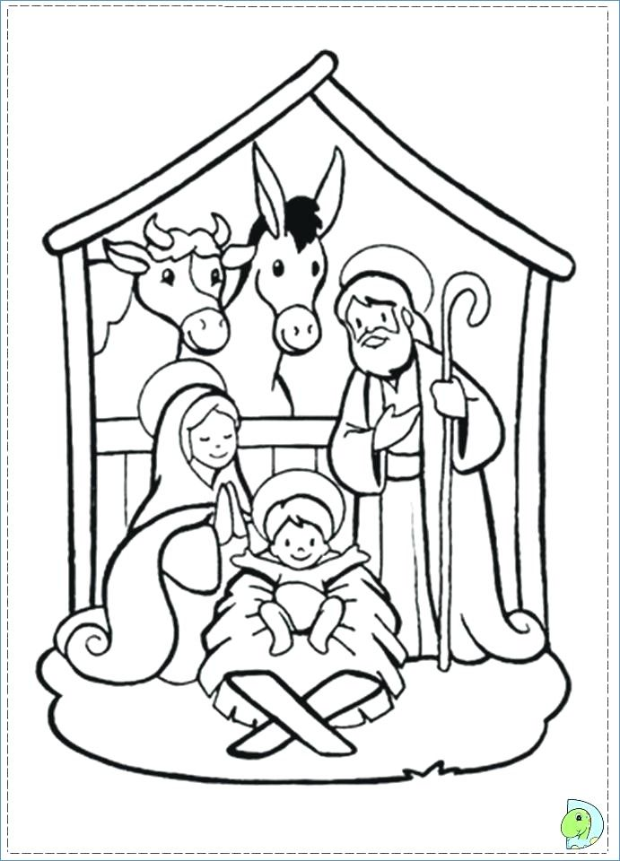 Baby Jesus Christmas Coloring Pages For Kids Fun Time Nativity