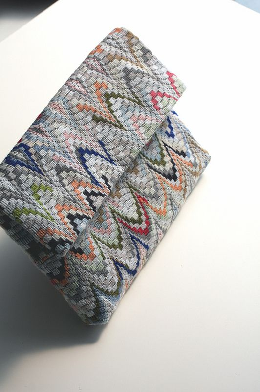 Bargello clutch :: prototype | Flickr - Photo Sharing!
