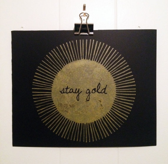 Stay Gold Print 8 x 10 Black and Gold by FifthandG on Etsy