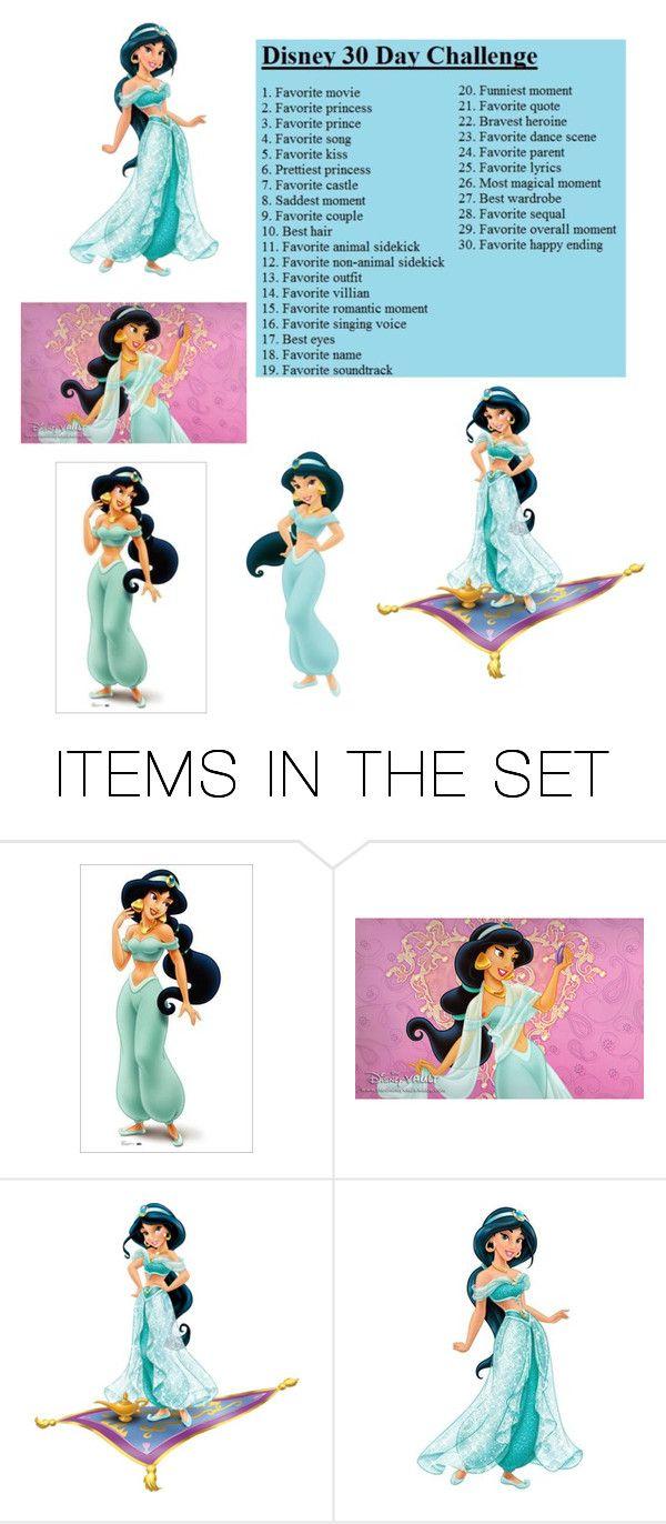 """Day 6:Princess Jasmine"" by thefrugal-fashionista ❤ liked on Polyvore featuring art, jasmine, aladdin and Disneyprincess"