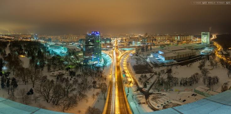 Golden lights in Petrzalka