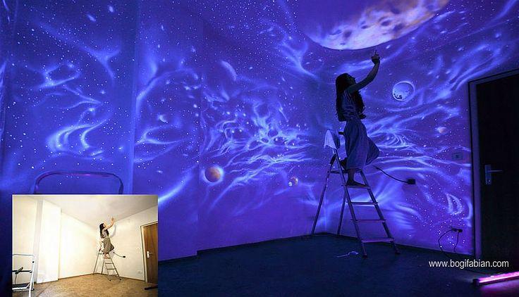 pintura luminiscente   Decoración: Los mundos luminiscentes de Bogi Fabian [Fotos ...