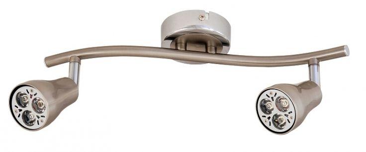 plafoniera cu 2 abajururi orientabile pe tija BEAM 6632 marca RabaLux
