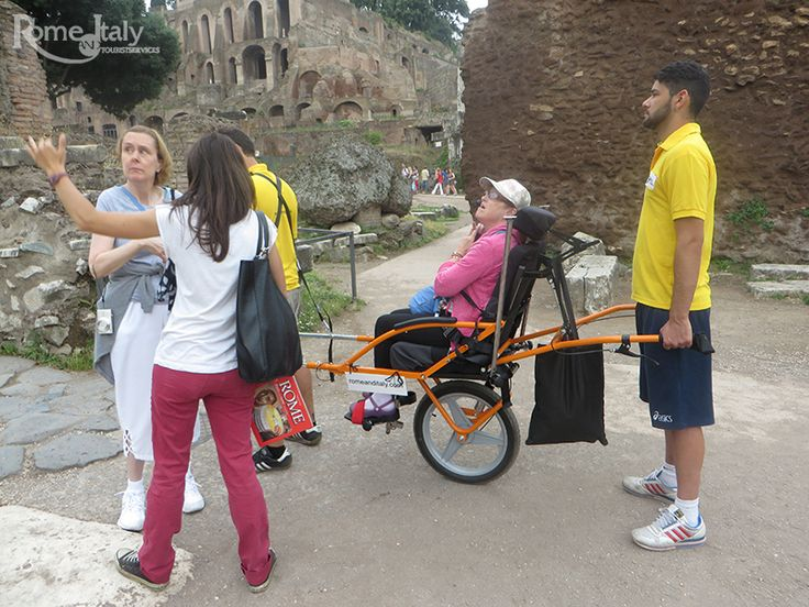 Cintyhia's Tour - Wheely Trekky  Cintyhia made memorable her tour of the most famous monuments of Rome thanks to Wheely Trekky, the special chair that makes every place accessible for people with disabilities…also the least accessible places!