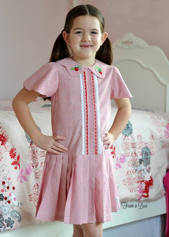 Whether you have a love for vintage or keep up with the newest trends, Lucy is the pattern for you! A drop waist dress, Lucy has two collar options,two sleeve options and two skirt options for your designing fun for all seasons. Lucy is designed to fit sizes 2T through size 10.