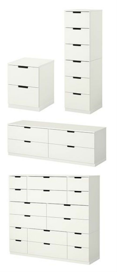 IKEA Fan Favorite: NORDLI series. This customizable series can be made to fit your organizational needs and space.