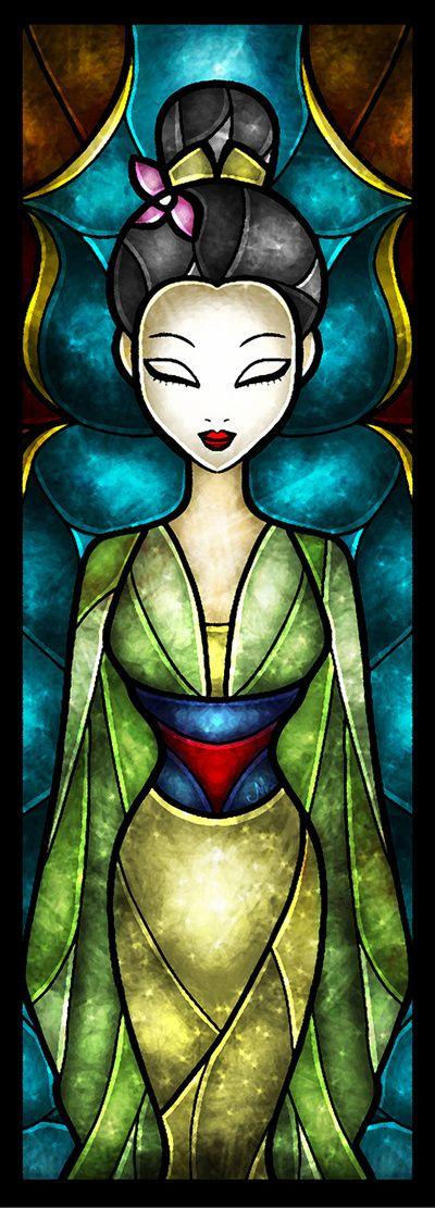 Mulan Stained Glass by Mandie Manzano