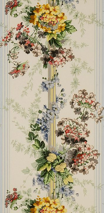 Scalamandre vintage wallpaper - Genevieve. Historic Representation Circa: 1825-1850