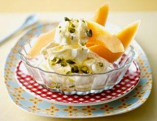Griechischer Joghurt mit Melone und Pistazienhonig Rezept