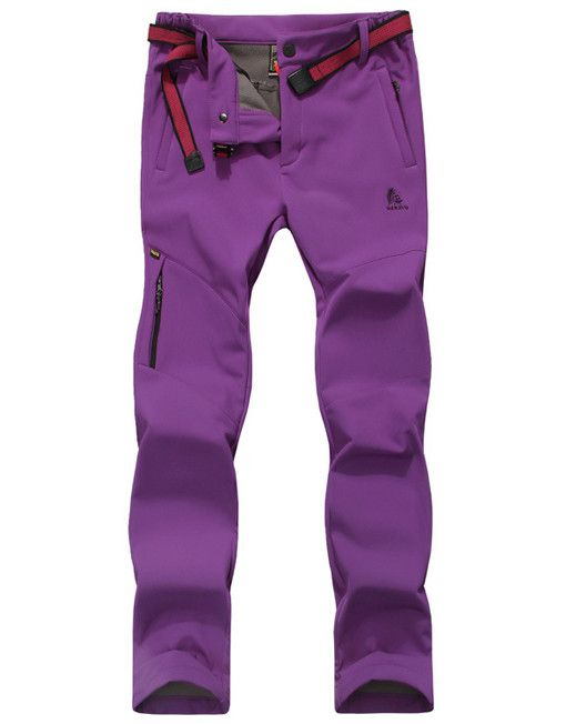 womens-hiking-pants-fleece-lining-waterproof-strectable-soft-shell-pants-1
