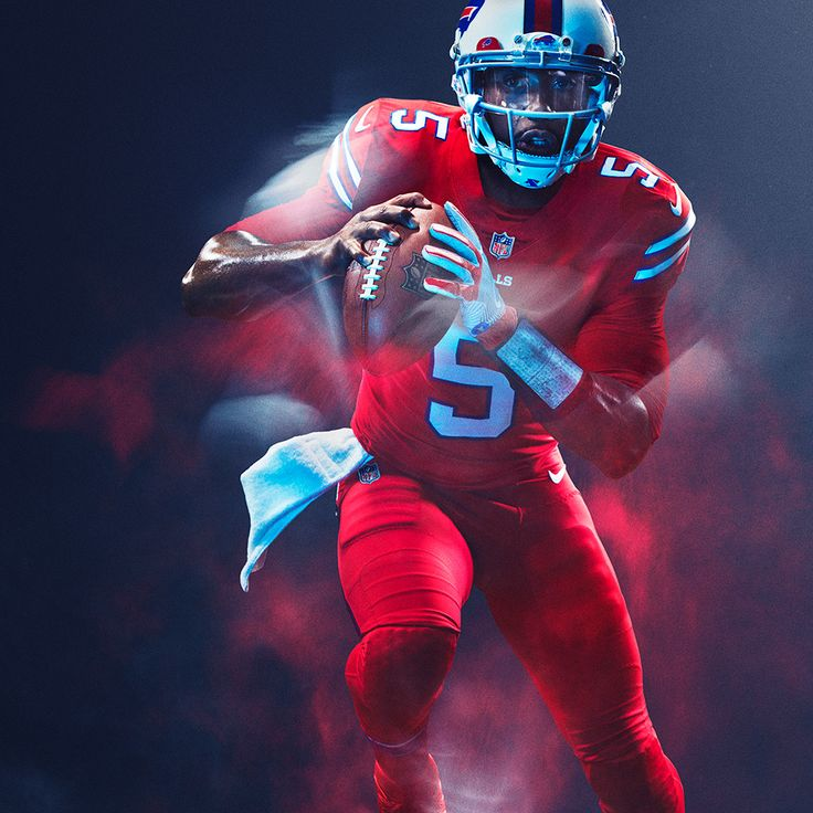 Buffalo Bills : NFL Color Rush uniforms for 2016 Thursday night games photos