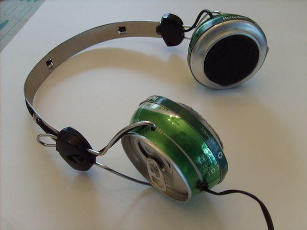 heineken Can Headphones by Jonathan Schoihet, via Behance
