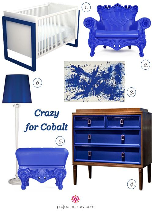Nursery Interior Design Featuring Cobalt Blue
